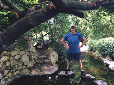 John Herbert at the Zilker Botanical Garden in May 2016. Herbert and Victoria Downey took in the sights before the  National Institute for Staff and Organizational Development Conference held in Austin, Texas.